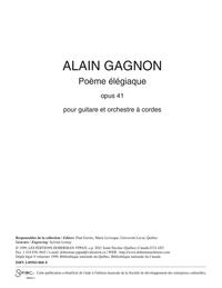 Poème élégiaque (réduction de piano)