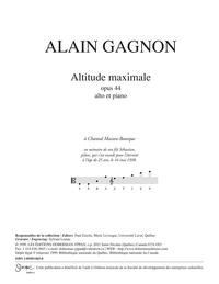 Altitude maximale, opus 44