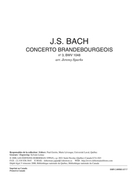 Concerto brandebourgeois, no. 3, BWV 1048