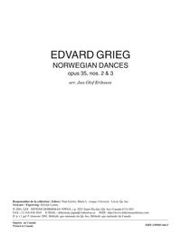 Norwegian Dances, opus 35, nos 2 3