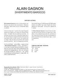 Divertimento barocco, opus 47