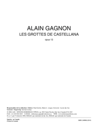 Les grottes de Castellana, opus 13