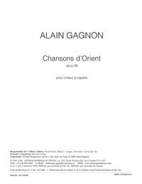 Chansons d'Orient, opus 38