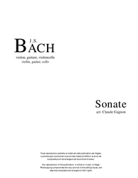 Sonate, BWV 1033