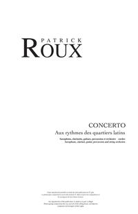Concerto - Aux rythmes des quartiers latins (Score)