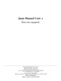Musique facile pour 4 guitares - Deux airs (Espagne)