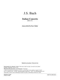 Italian Concerto, BWV 971 (score)