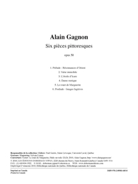 Six pièces pittoresques, opus 50