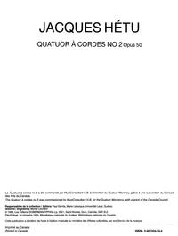 Quatuor à cordes, opus 50, no. 2