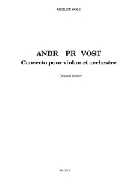 Concerto for violin (partie soliste)