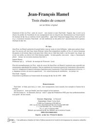 Trois études de concert