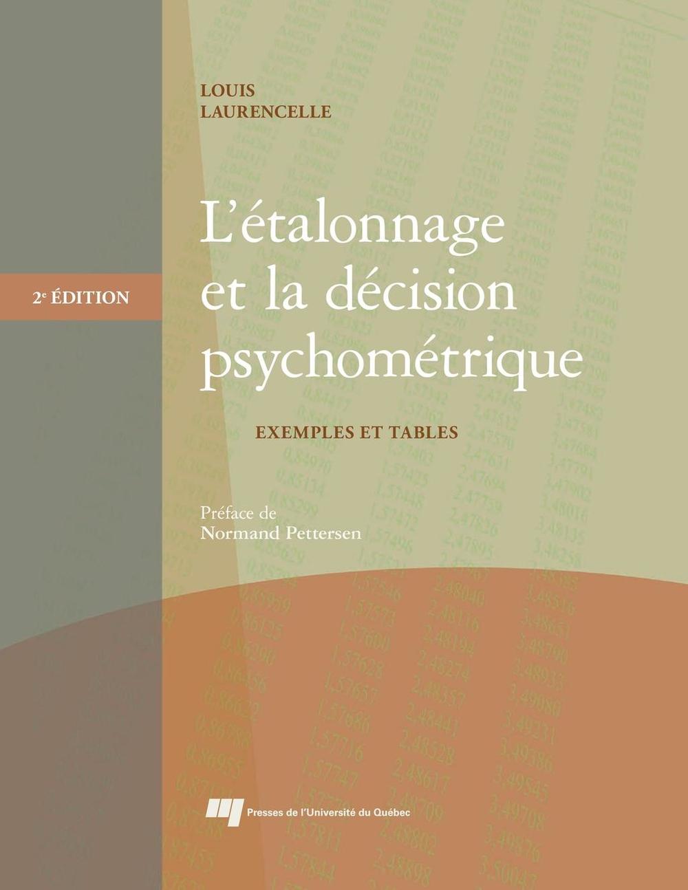 L'étalonnage et la décision psychométrique, 2e édition