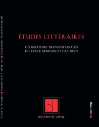 Études littéraires. Vol. 46...