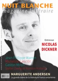 Nuit blanche, magazine littéraire. No. 142, Hiver 2016