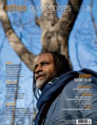 Image de couverture (Lettres québécoises. No. 163, Automne 2016)
