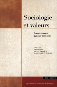 Sociologie et valeurs. Quat...