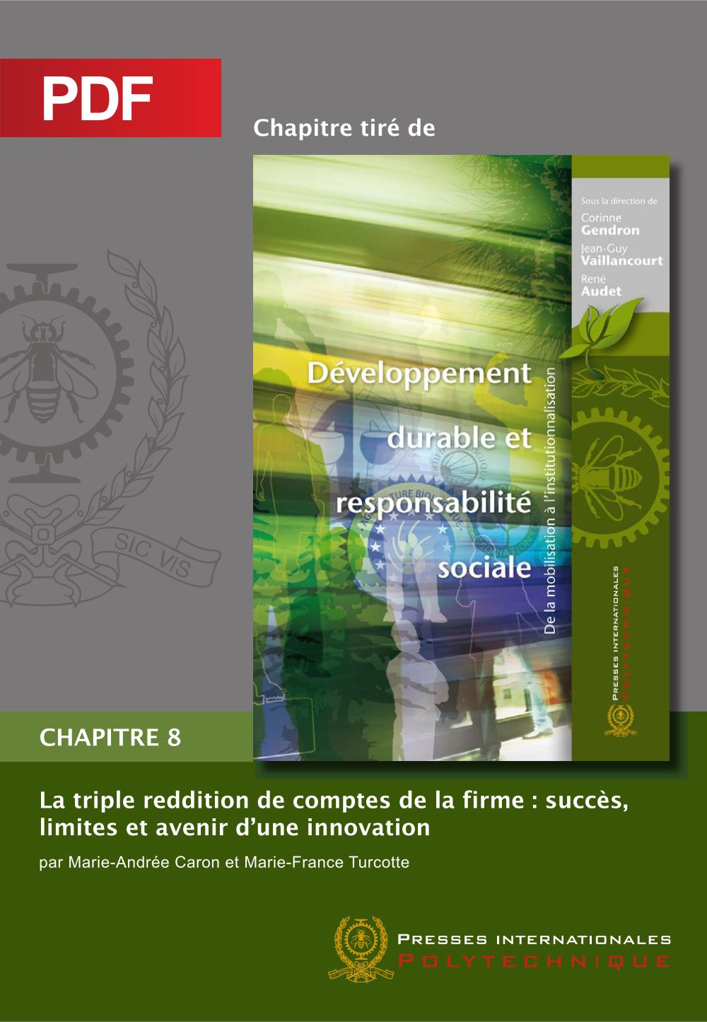 La triple reddition de comptes de la firme: succès, limites et avenir d'une innovation (Chapitre PDF)