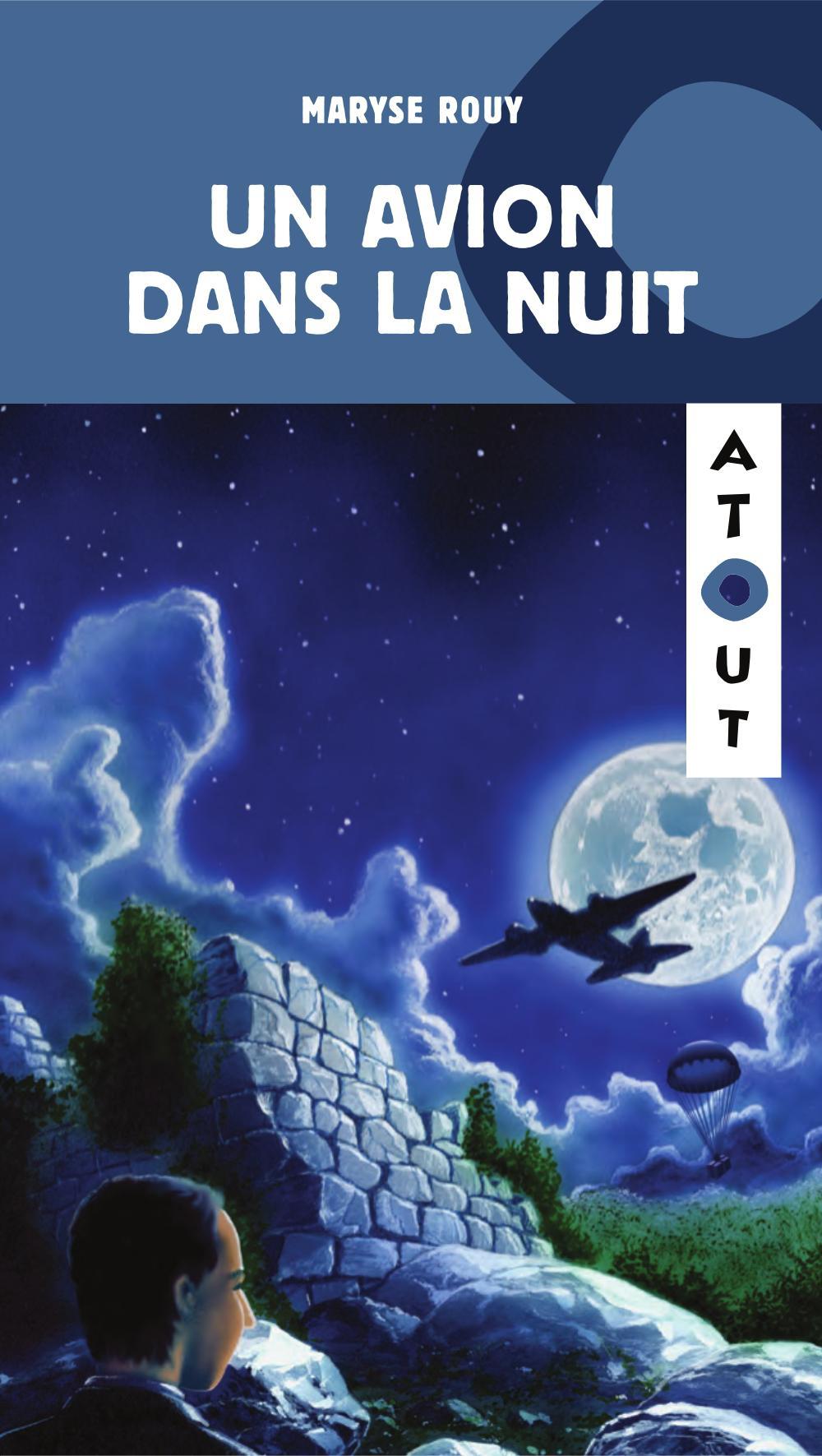 Un avion dans la nuit