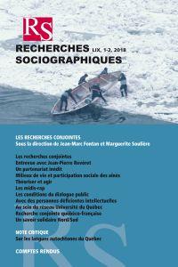 Recherches sociographiques. Vol. 59 No. 1-2, Janvier–Juillet 2018