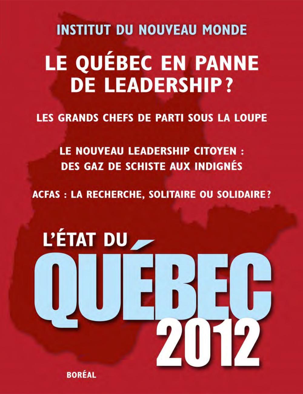 L'État du Québec 2012