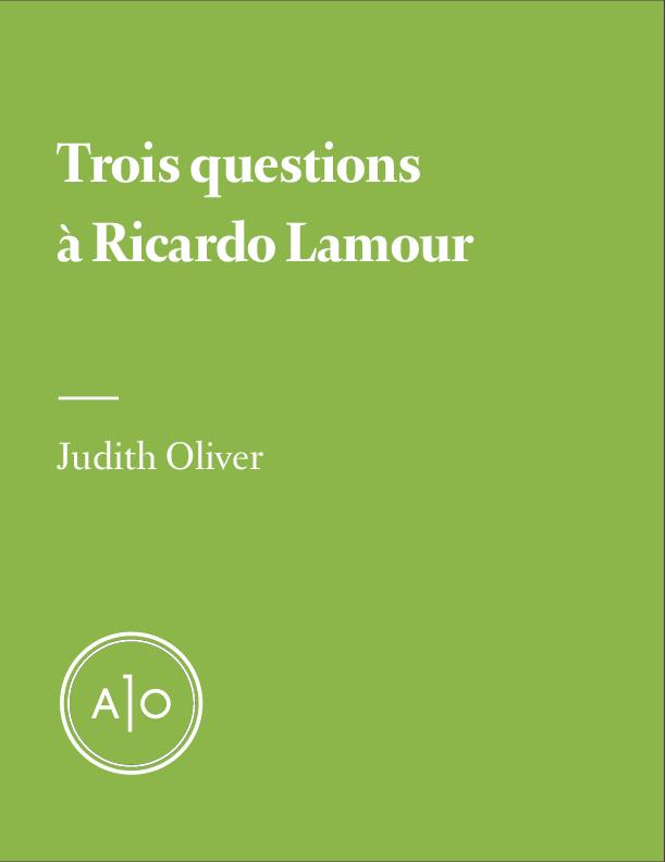 Trois questions à Ricardo Lamour