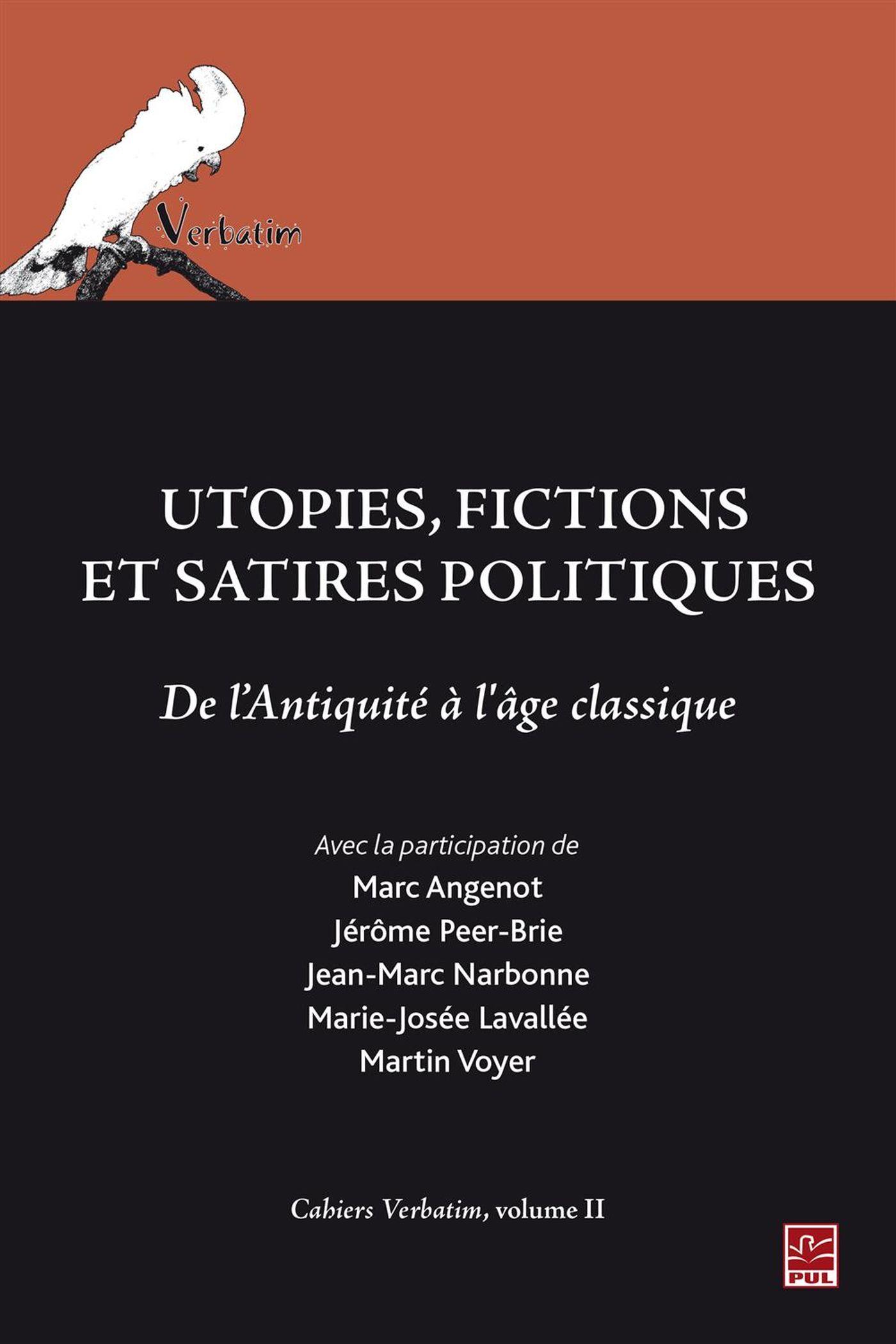 Utopies, fictions et satires politiques