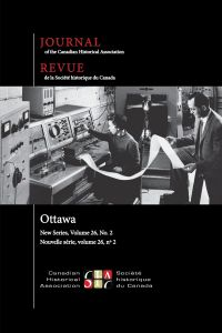 Journal of the Canadian Historical Association. Vol. 26 No. 2,  2015
