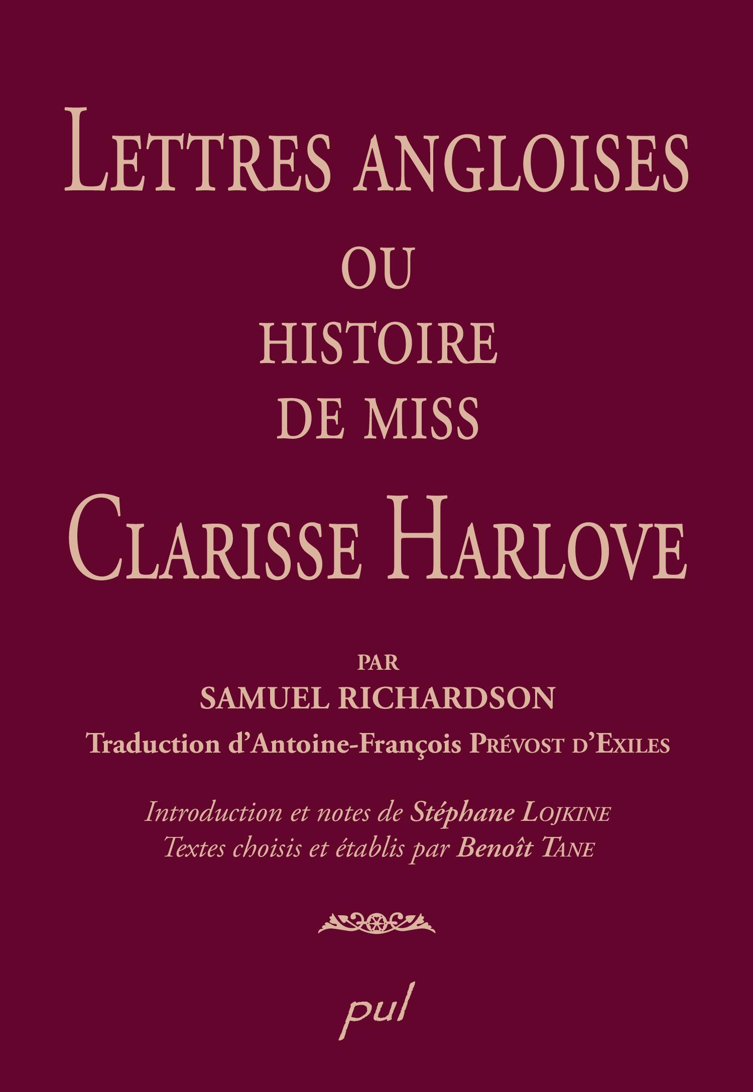 Lettres angloises ou l'histoire de Miss Clarisse Harlove