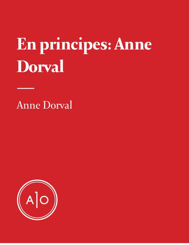 En principes: Anne Dorval