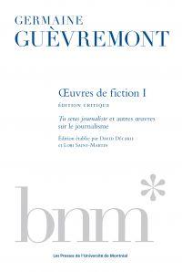 Image de couverture (Oeuvres de fiction 1, édition critique)