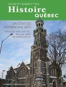 Histoire Québec. Vol. 25 No. 2,  2019
