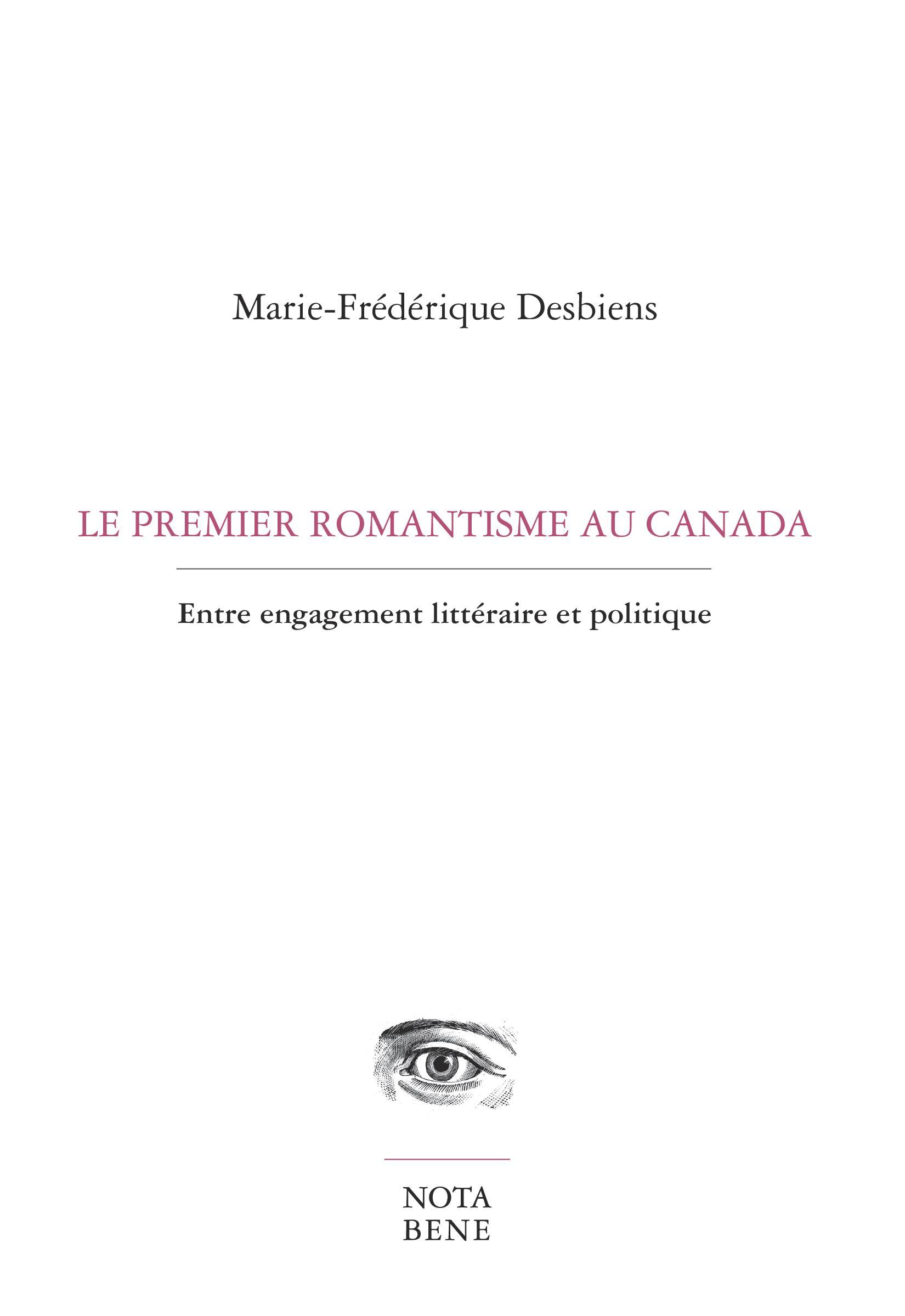 Le premier romantisme au Canada