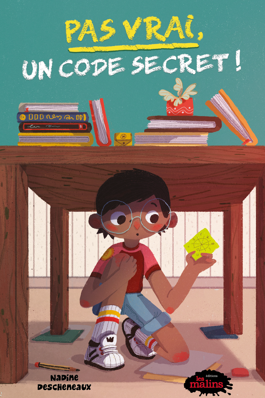 Pas vrai! Un code secret!