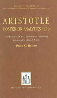 Aristotle: posterior analyt...