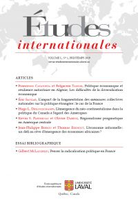 Études internationales. Vol. 50 No. 1, Printemps 2019