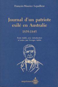 Journal d'un patriote exilé...