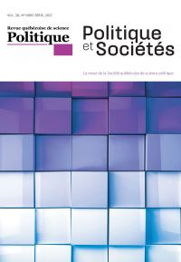 Politique et Sociétés. Vol. 36,  2017
