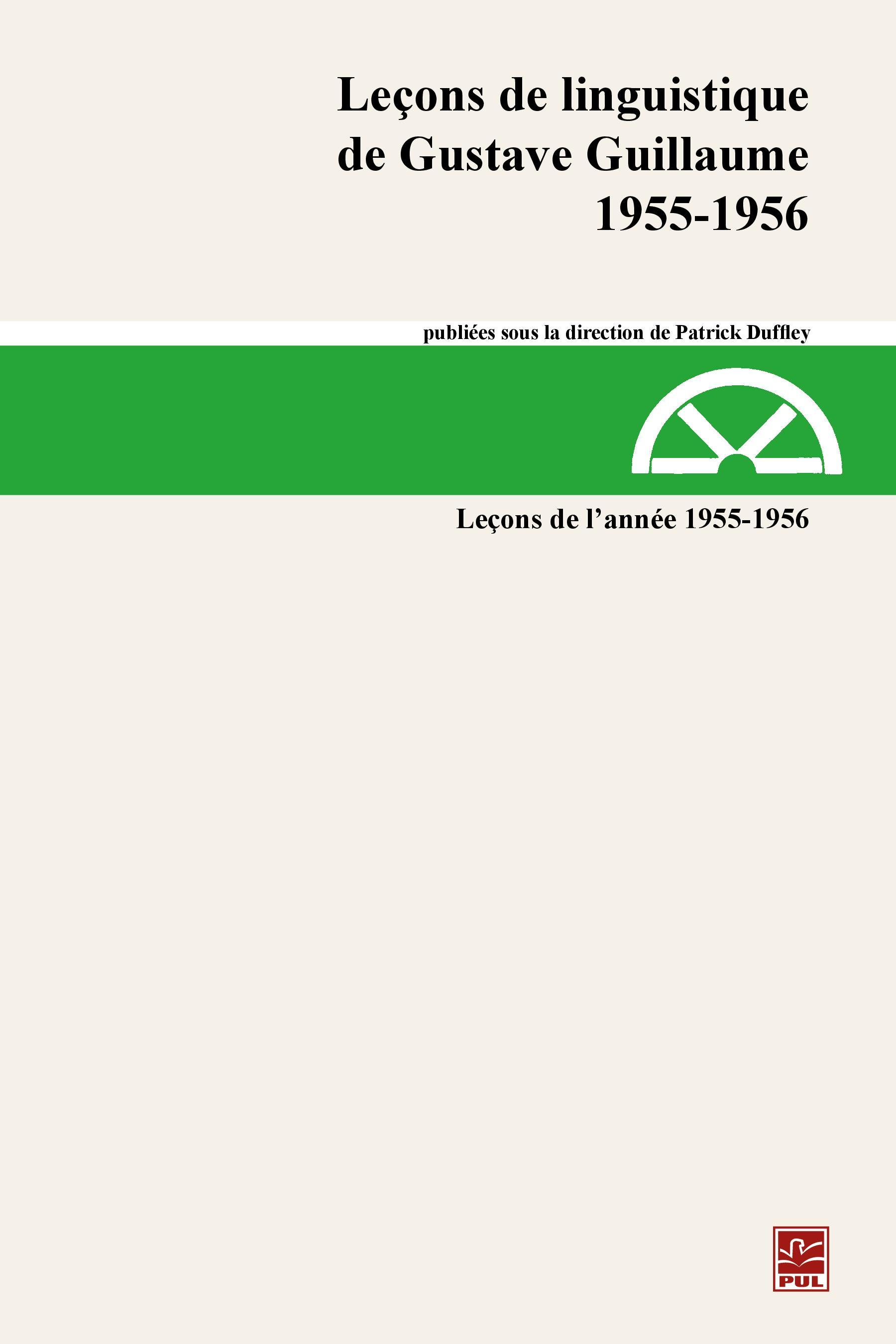 Leçons de linguistique de Gustave Guillaume 1955-1956 23