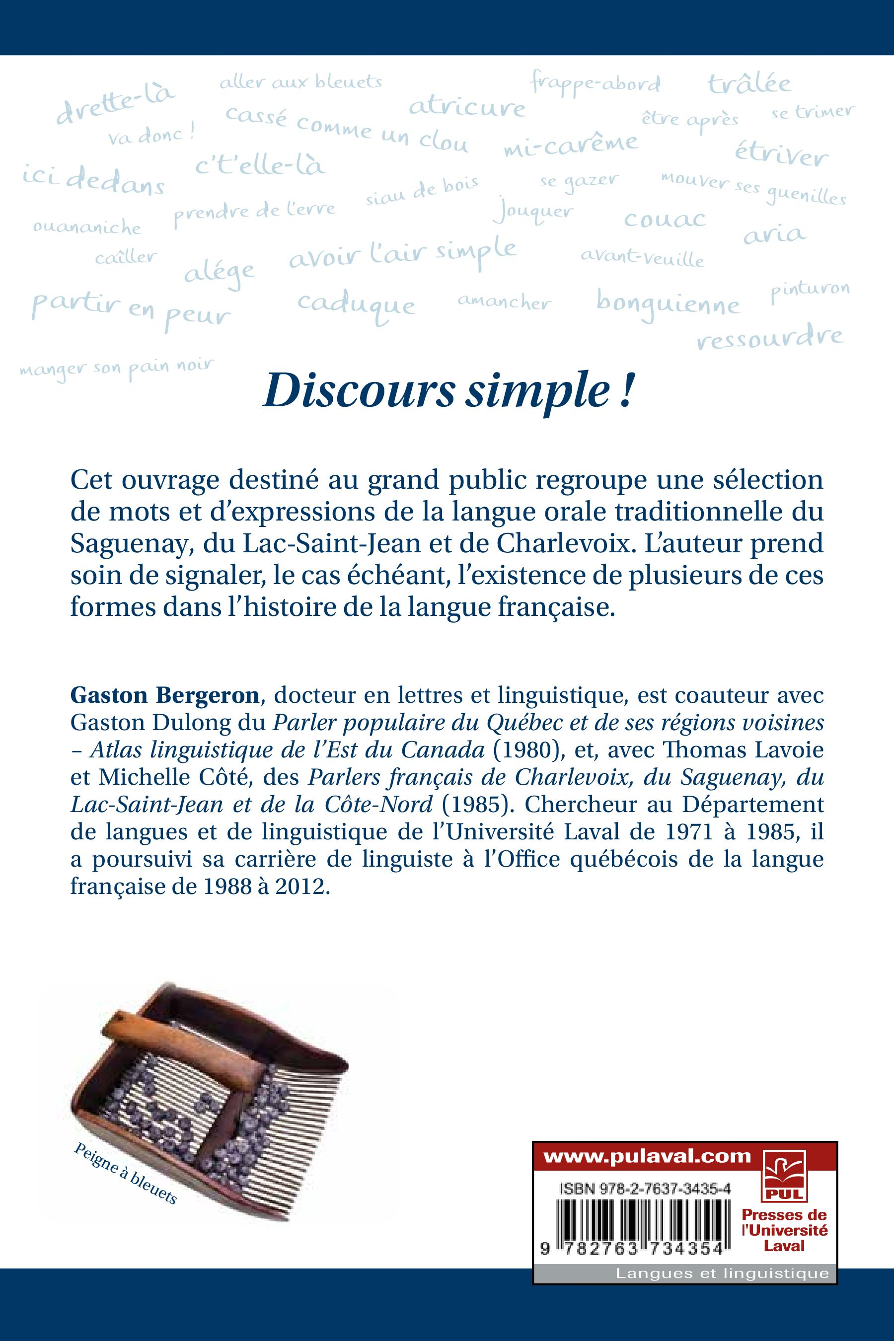 Discours simple !
