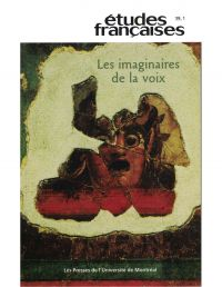 Image de couverture (Volume 39, numéro 1, 2003 - Les imaginaires de la voix)