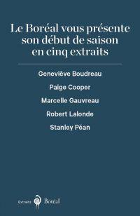 L'automne 2019 du Boréal en cinq extraits