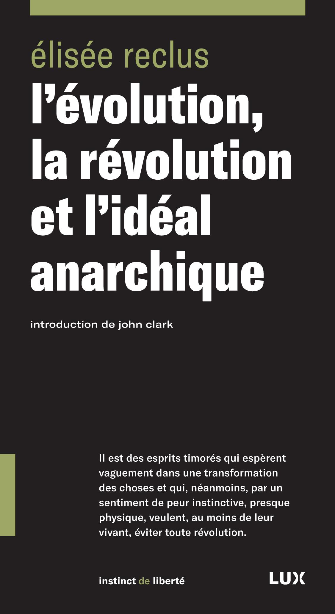 L'évolution, la révolution ...