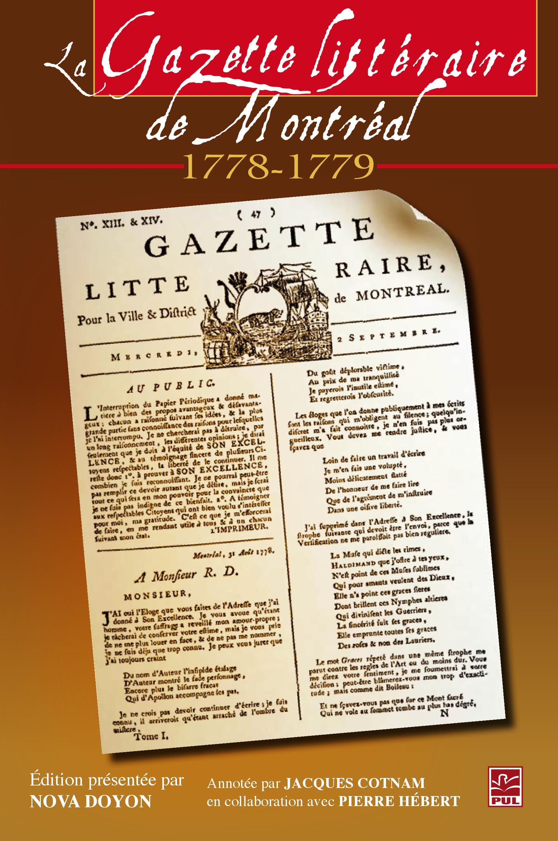 La Gazette littéraire de Montréal (1778-1779)