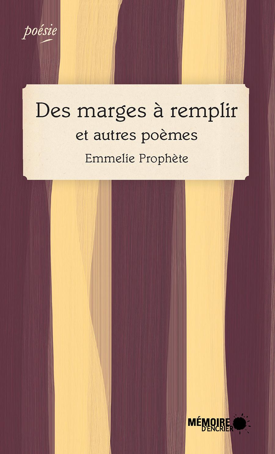 Des marges à remplir et autres poèmes