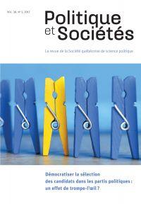Politique et Sociétés. Vol. 36 No. 2,  2017