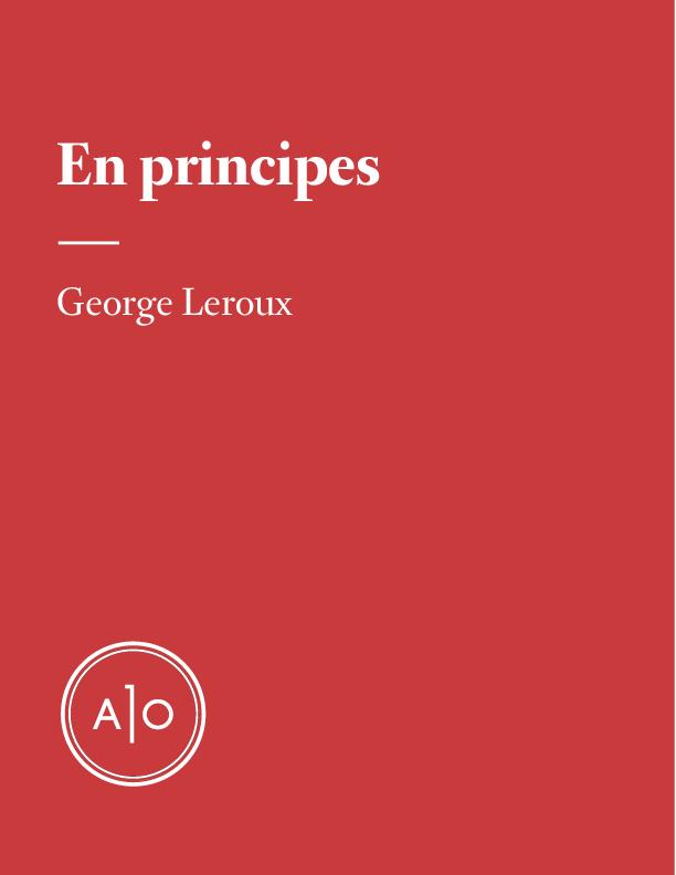 En principes: George Leroux