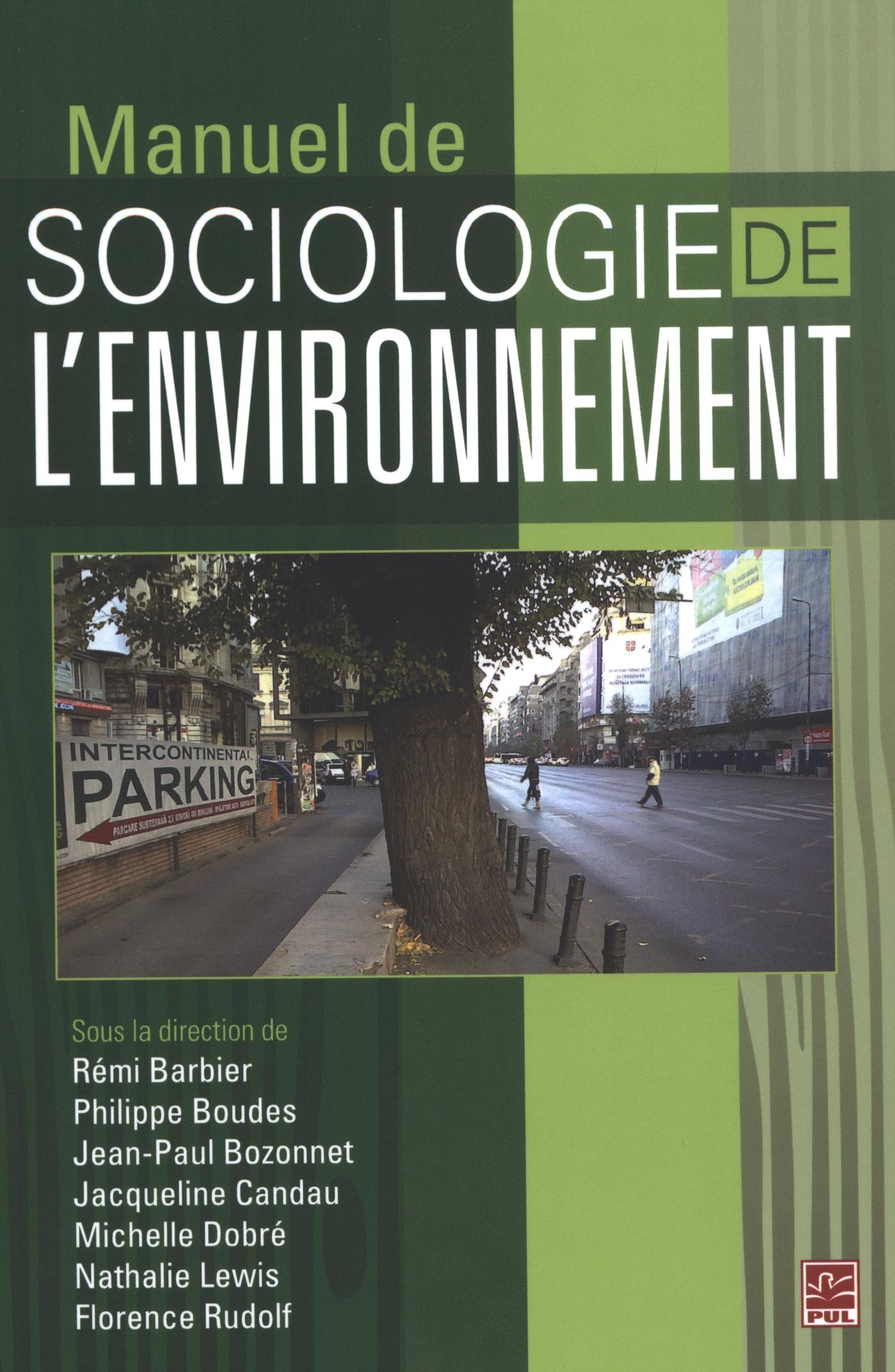 Manuel de sociologie de l'environnement