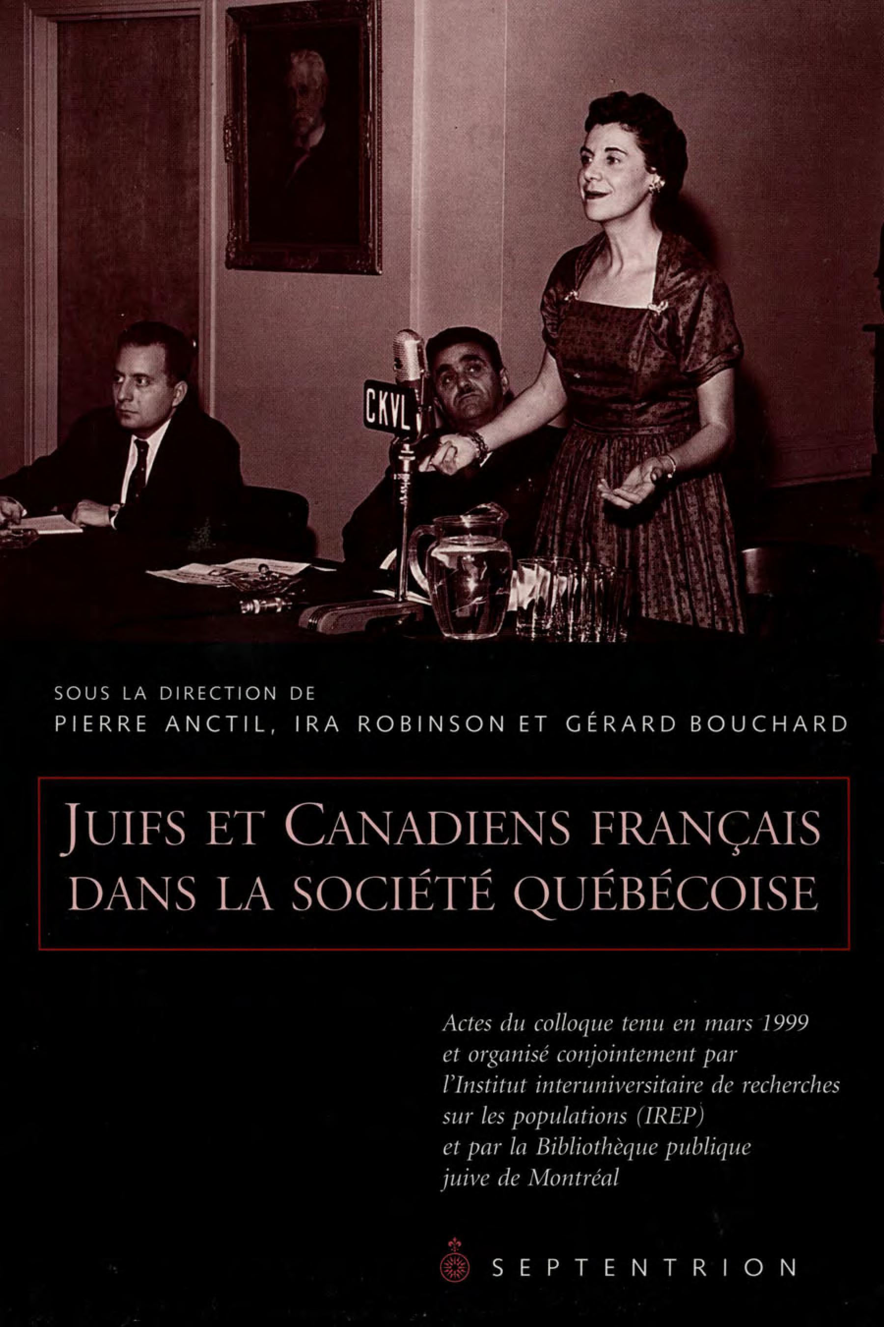 Juifs et Canadiens français dans la société québécoise
