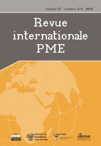 Revue internationale P.M.E.. Vol. 31 No. 3-4,  2018