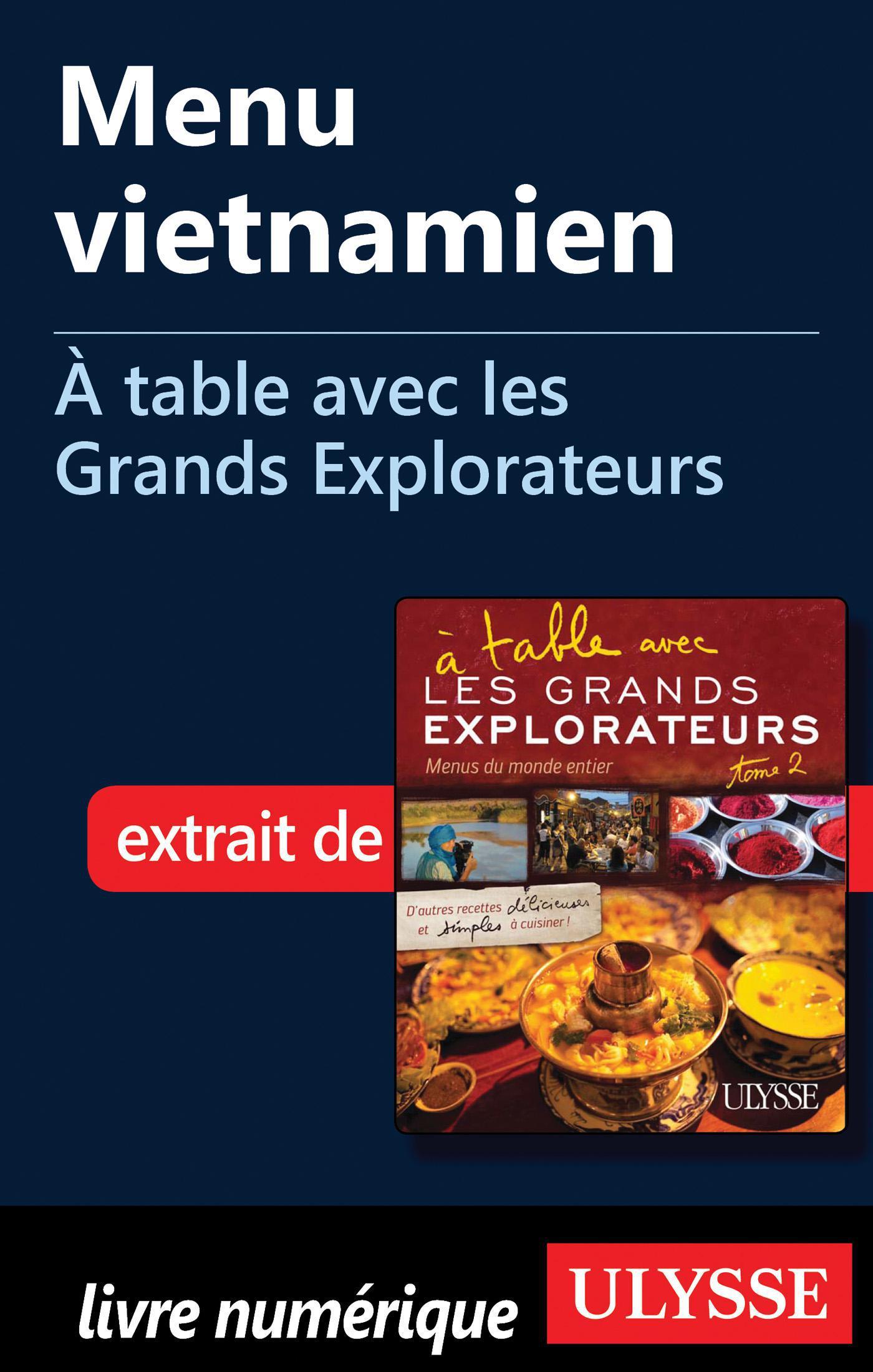 Menu vietnamien - À table a...